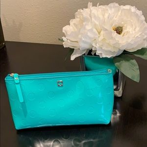 Kate Spade Cosmetics Bag Turquoise Dot